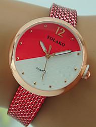 cheap -Women's Wrist Watch Quartz Black / White / Red Casual Watch Analog Ladies Fashion - Red Pink Light Blue