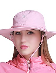 cheap -VEPEAL Hiking Hat Boonie hat Hat Windproof Sunscreen UV Resistant Breathable Mesh Solid Colored Fashion Chinlon Summer for Men's Women's Fishing Traveling Walking Pink Grey Khaki / Quick Dry
