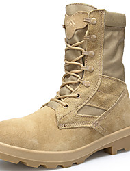 cheap -Men's Suede Shoes Suede Fall / Winter Sporty Boots Hiking Shoes Mid-Calf Boots Black / Beige / Athletic / Outdoor / Combat Boots / Desert Boots