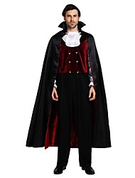 cheap -Angel / Devil Vampire Cloak Costume Adults' Men's Halloween Christmas Halloween Carnival Festival / Holiday Polyster Black Carnival Costumes Solid Colored Halloween