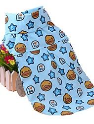 cheap -Dogs Cats Pets Shirt / T-Shirt Dog Clothes Blue Pink Costume Beagle Bulldog Shiba Inu Cotton Cartoon Quotes & Sayings Stars Trendy Cute XXS XS S M L