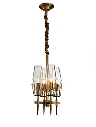 cheap -LightMyself™ 4-Light 30 cm Crystal Chandelier Metal Candle-style Brass Rustic / Lodge / Modern Contemporary 110-120V / 220-240V