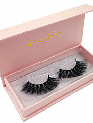 cheap -Eyelash Extensions False Eyelashes 2 pcs Waterproof Professional Volumized Curly Extra Long Animal wool eyelash Date Natural Long - Makeup Daily Makeup Halloween Makeup Party Makeup Professional High