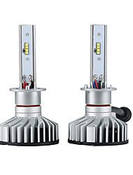 cheap -2pcs H1 Car Light Bulbs 25W Integrated LED 3000lm 2 LED Headlamp For Ford Rio / Forte / Focus All years