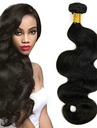Недорогие -6 Связок Перуанские волосы Волнистый Натуральные волосы 300 g Накладки из натуральных волос Естественный цвет Ткет человеческих волос Удлинитель Горячая распродажа Расширения человеческих волос / 8A