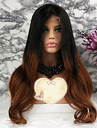 cheap -Remy Human Hair Lace Front Wig Layered Haircut Rihanna style Brazilian Hair Wavy Brown Wig 130% Density with Baby Hair 100% Virgin Women's Short Medium Length Long Human Hair Lace Wig Luckysnow