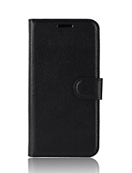 cheap -Case For Samsung Galaxy J8 / J7 Duo / J7 Perx Wallet / Card Holder / Flip Full Body Cases Solid Colored Hard PU Leather