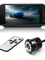 cheap -ZIQIAO 7 Inch Color TFT LCD Car Rear View Mirror Monitor and 8 LED CCD HD Waterproof Car Rear View Camera