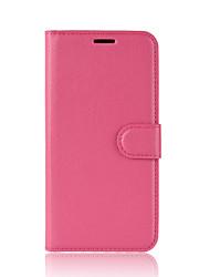 Недорогие -Кейс для Назначение Motorola Moto Z2 play / Moto X4 / MOTO G6 Кошелек / Бумажник для карт / Флип Чехол Однотонный Твердый Кожа PU / Мото G5 Plus