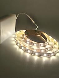 Недорогие -Струйные фонари zdm® 2m 300 светодиодов 2835 smd 8 мм теплый белый / холодный белый, режущий / подходит для транспортных средств / самоклеящийся и работающий от батареи 1 шт.