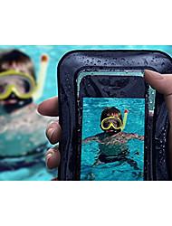 Недорогие -Кейс для Назначение Apple iPhone X / iPhone 8 Pluss / iPhone 8 Водонепроницаемый / Полупрозрачный Мешочек Однотонный Мягкий ABS + PC