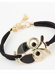 cheap -Women's Onyx Bracelet Owl Animal Ladies Vintage Sweet Cord Bracelet Jewelry White / Black / Red For Daily