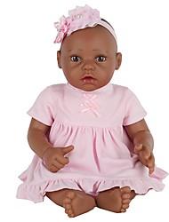 cheap -NPK DOLL Reborn Doll Baby Girl 10 inch Full Body Silicone Silicone Vinyl - Newborn lifelike Cute Gift Hand Made Hand Applied Eyelashes Kid's Unisex Toy Gift / Natural Skin Tone / Floppy Head