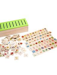 Недорогие -Игрушка для обучения чтению Прямоугольник / Семья Взаимодействие родителей и детей деревянный Детские Подарок 80 pcs