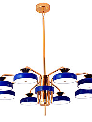 cheap -ZHISHU 8-Light 80 cm Mini Style Chandelier Metal Candle-style Electroplated / Painted Finishes Artistic / Modern 110-120V / 220-240V