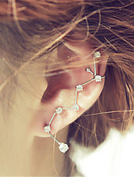 cheap -Stud Earrings One Earring Climber Earrings Ladies European Fashion Earrings Jewelry Silver For Wedding Party Masquerade Engagement Party Prom Promise