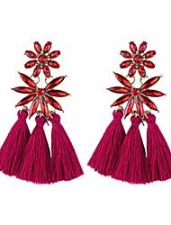 cheap -Drop Earrings Tassel Long Ladies Tassel Vintage Fashion Earrings Jewelry Wine / Light Brown / Dark Green For Daily Street