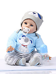 cheap -NPKCOLLECTION NPK DOLL Reborn Doll Reborn Toddler Doll 24 inch Silicone Vinyl - lifelike Cute Gift Child Safe Non Toxic Hand Applied Eyelashes Kid's Unisex / Girls' Toy Gift / CE Certified