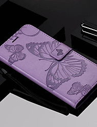 cheap -Case For Nokia Nokia 6 2018 / Nokia 5 / Nokia 3 Wallet / Card Holder / with Stand Full Body Cases Butterfly Hard PU Leather