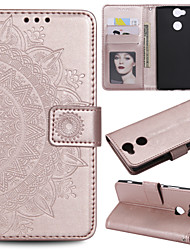cheap -Case For SonyXperia Z3 / SonyXperia Z5 / Xperia XA2 Wallet / Card Holder / Flip Full Body Cases Flower Hard PU Leather