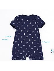 cheap -Baby Boys' Basic Daily Geometric Short Sleeves Romper Navy Blue