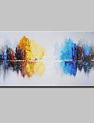 cheap -Mintura® Hand Painted Abstract Knife Landscape Oil Painting On Canvas Modern Wall Art Pictures For Home Decoration Ready To Hang With Stretched Frame