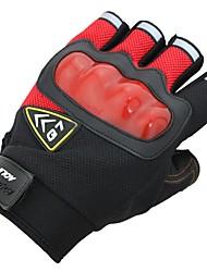 Недорогие -Перчатки для бега перчатки Спортивные перчатки Терилен Лен / хлопок Дышащая сетка Ударопрочный Анти-Ветер Липкий Спортивныеперчатки На открытом воздухе Велоспорт Для