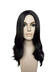 cheap -Curly Layered Haircut Wig Long Black#1B Synthetic Hair Women's Party Synthetic New Arrival Black / Natural Hairline / Natural Hairline