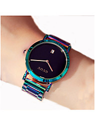 cheap -Women's Dress Watch Quartz Stainless Steel Green 50 m Chronograph Analog Ladies Casual - Black Gray Purple One Year Battery Life