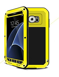 cheap -Phone Case For Samsung Galaxy Full Body Case S7 S6 S5 Shockproof Water Resistant Armor Armor Hard Metal