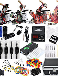 abordables -Solong Tattoo / DRAGONHAWK Kit de tatouage professionnel Machine à tatouer - 4 pcs Machines de tatouage, Niveau professionnel / Tout en un / Facile à installer Alliage LCD alimentation 4 machine x