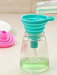 voordelige -Siliconen trechter Makkelijk mee te nemen Creative Kitchen Gadget Keukengerei Hulpmiddelen Dagelijks gebruik 1pc