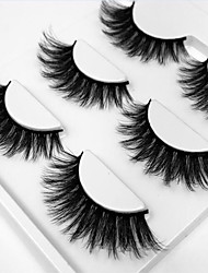 cheap -Eyelash Extensions False Eyelashes 6 pcs Professional Level Volumized Curly Extra Long Fiber Daily Practise Date Full Strip Lashes Thick - Makeup Daily Makeup Professional Portable Cosmetic Grooming