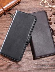 cheap -Case For HTC HTC U11 plus / HTC U11 Life / HTC U11 Wallet / Card Holder / Flip Full Body Cases Solid Colored Hard Genuine Leather