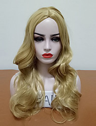 cheap -Synthetic Wig Wavy Middle Part Wig Blonde Long Blonde Synthetic Hair Women's Hot Sale Blonde