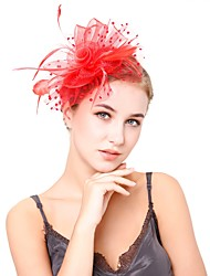 cheap -Women's Kentucky Derby Vintage Elegant Head Jewelry Hat Wedding Party - Solid Colored / All Seasons