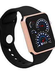 Недорогие -Муж. Жен. электронные часы Цифровой силиконовый Черный / Белый / Синий 30 m Защита от влаги ЖК экран 3D в мультяшном стиле Цифровой Cool Элегантный стиль - Зеленый Синий Розовый / Один год