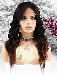 cheap -Remy Human Hair Lace Front Wig Layered Haircut Rihanna style Brazilian Hair Wavy Brown Wig 130% Density with Baby Hair 100% Virgin Coloring Women's Short Medium Length Long Human Hair Lace Wig