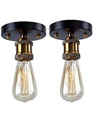 cheap -2-Light 2 pcs Vintage Loft Mini Metal Ceiling Lamp Flush Mount Hallway Dining Room Bedroom Kitchen Antique Lamp