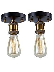 cheap -2 pcs Vintage Loft Mini Metal Ceiling Lamp Flush Mount Hallway Dining Room Bedroom Kitchen Antique Lamp