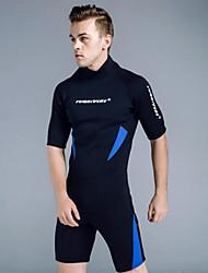 cheap -Men's Shorty Wetsuit 3mm CR Neoprene Diving Suit UV Resistant Anatomic Design Half Sleeve Back Zip Graphic Summer