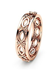 cheap -Women's Engagement Ring Champagne Copper Rose Gold Plated Metal Circle Geometric Ladies Vintage European Formal Carnival Jewelry Ball Handmade