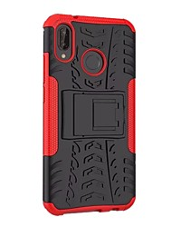 cheap -Phone Case For Huawei Back Cover Huawei P20 lite Shockproof with Stand Armor Armor Hard PC