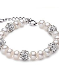 cheap -Women's Freshwater Pearl Bead Bracelet Ball Ladies Fashion Pearl Bracelet Jewelry White For Party Daily