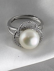 cheap -Women's Band Ring Knuckle Ring Pearl Silver Pearl S925 Sterling Silver Alloy Ladies Classic Vintage Daily Formal Jewelry