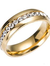 cheap -Band Ring Cubic Zirconia Gold Silver Steel Stainless Ladies Classic Fashion 6 7 8 9