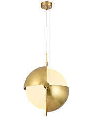 cheap -1-Light LightMyself™ 35 cm Adjustable Pendant Light Metal Globe Painted Finishes Nature Inspired / Chic & Modern 110-120V / 220-240V