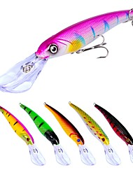 cheap -7 pcs Fishing Lures Hard Bait Minnow Crank Outdoor Sinking Bass Trout Pike Bait Casting Lure Fishing General Fishing Plastic
