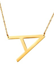 cheap -Men's Pendant Necklace Name Alphabet Shape Letter Simple Fashion Stainless Steel Black Gold Silver 51 cm Necklace Jewelry For Gift Daily