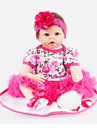 cheap -NPKCOLLECTION NPK DOLL Reborn Doll 22 inch Full Body Silicone - Newborn lifelike Cute Child Safe Non Toxic Hand Applied Eyelashes Kid's Unisex / Girls' Toy Gift
